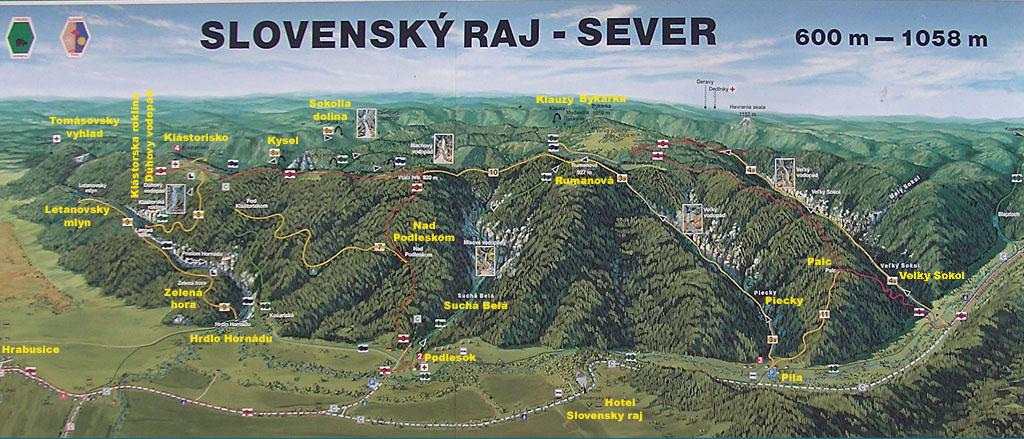 szlovák paradicsom térkép Szlovák Paradicsom/Slovensky raj szlovák paradicsom térkép